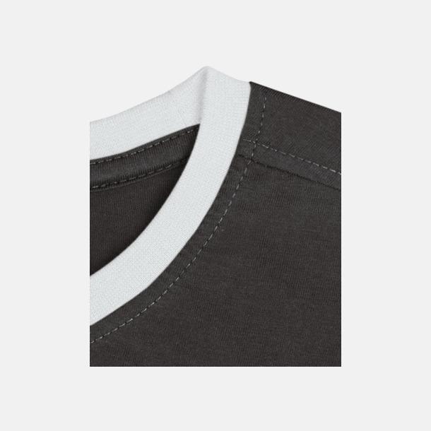 Svart / Vit Herr t-shirts i spännande färgkombinationer med reklamtryck