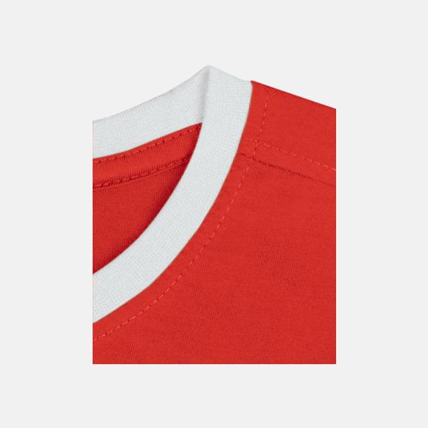 Röd / Vit Herr t-shirts i spännande färgkombinationer med reklamtryck