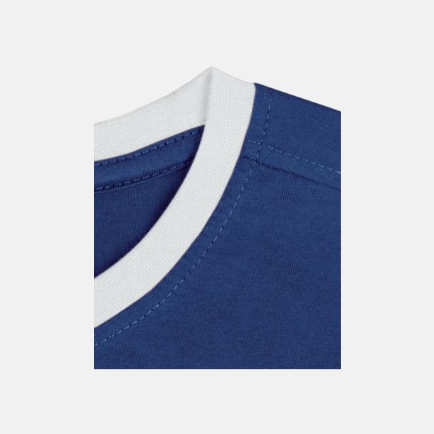 Royal/Vit Herr t-shirts i spännande färgkombinationer med reklamtryck