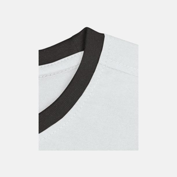 Vit / Svart Herr t-shirts i spännande färgkombinationer med reklamtryck