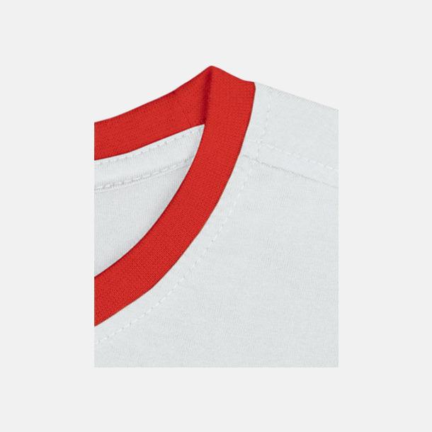 Vit / Röd Herr t-shirts i spännande färgkombinationer med reklamtryck