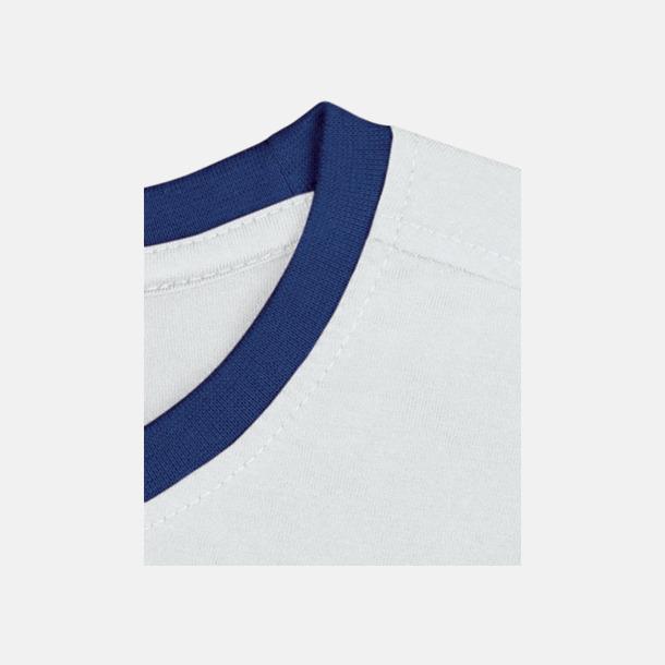 Vit/Royal Herr t-shirts i spännande färgkombinationer med reklamtryck