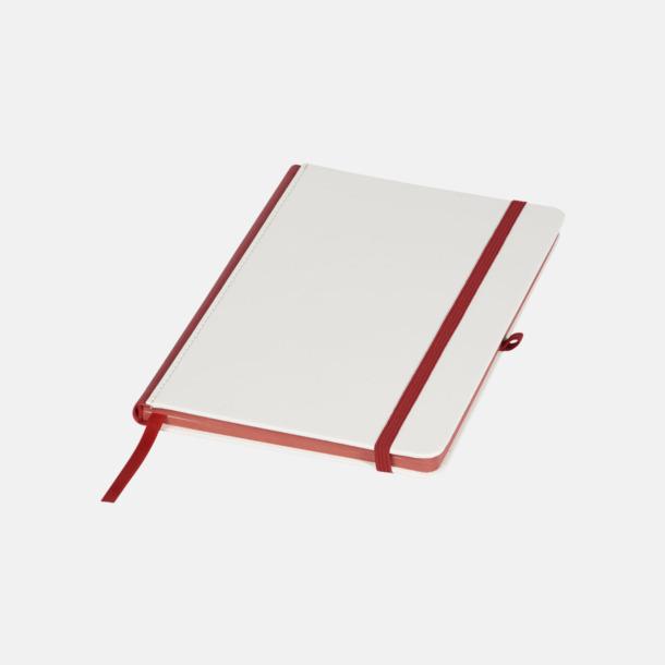 Vit / Röd A5-anteckningsböcker med digitaltryck
