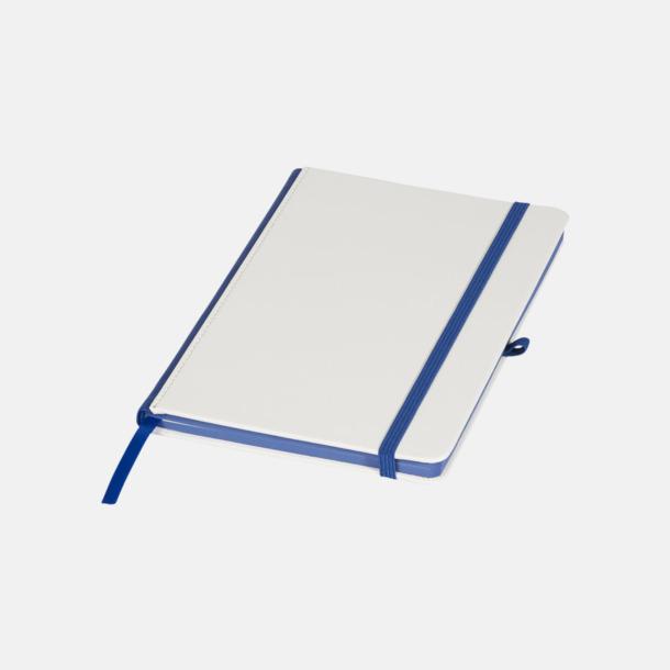 Vit/Royal A5-anteckningsböcker med digitaltryck