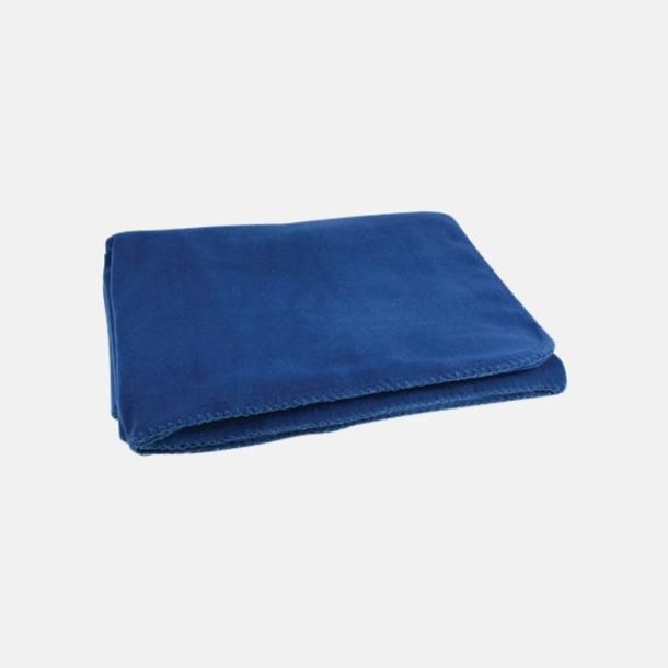 Marinblå Noppfria fleeceplädar med reklamlogo