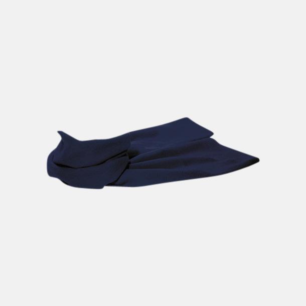 Blå Billiga halsdukar i fleece med reklamlogo