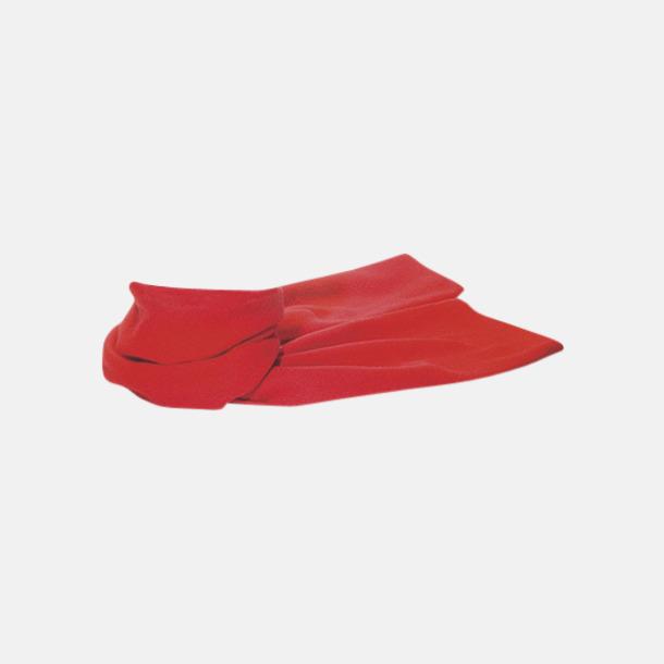 Röd Billiga halsdukar i fleece med reklamlogo