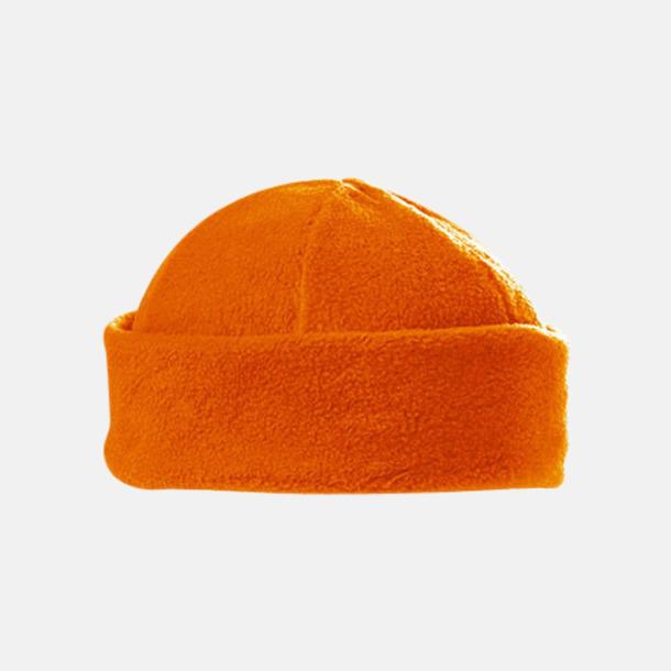Orange Fleecemössor i många färger med reklamlogo