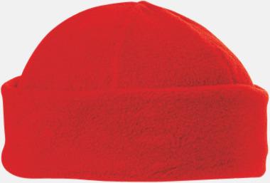 Röd Fleecemössor i många färger med reklamlogo