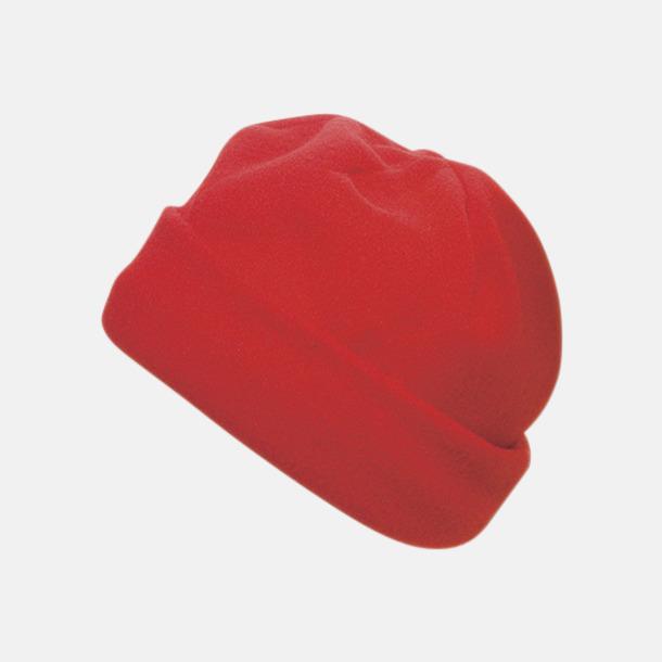 Röd Billiga fleece mössor med reklamlogo