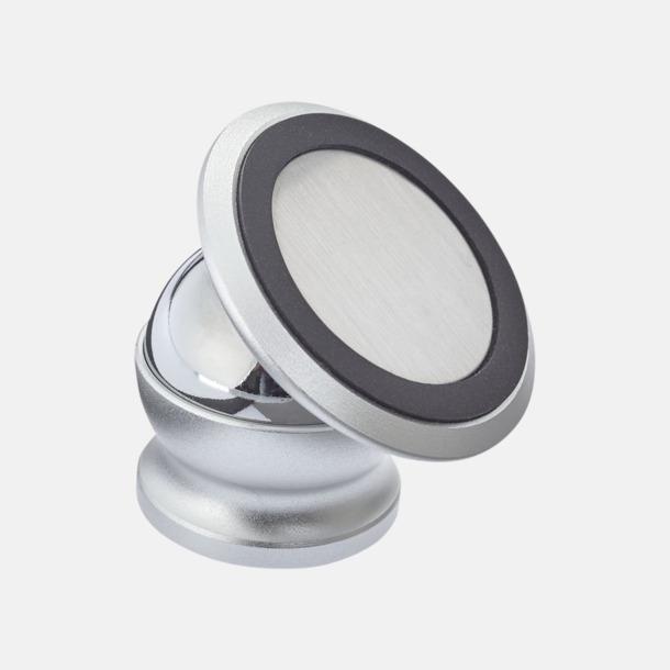 Silver Promo mobilhållare som är magnetisk - med reklamtryck