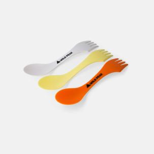 Sked, gaffel & kniv i ett - med reklamtryck