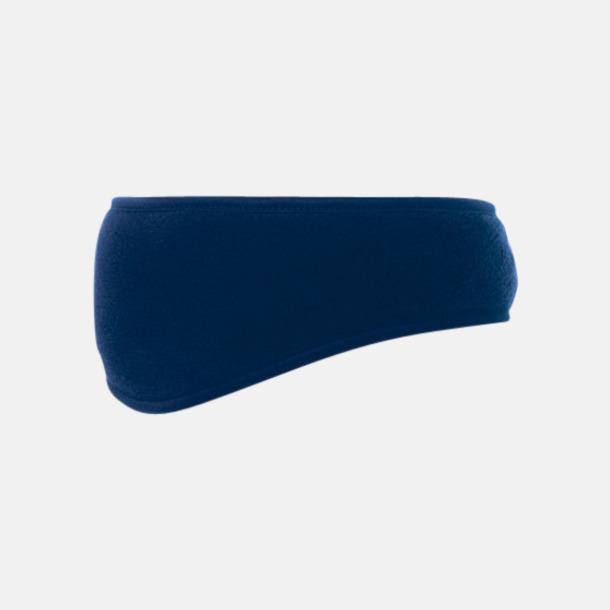 Marinblå Fleece pannband med reklamlogo