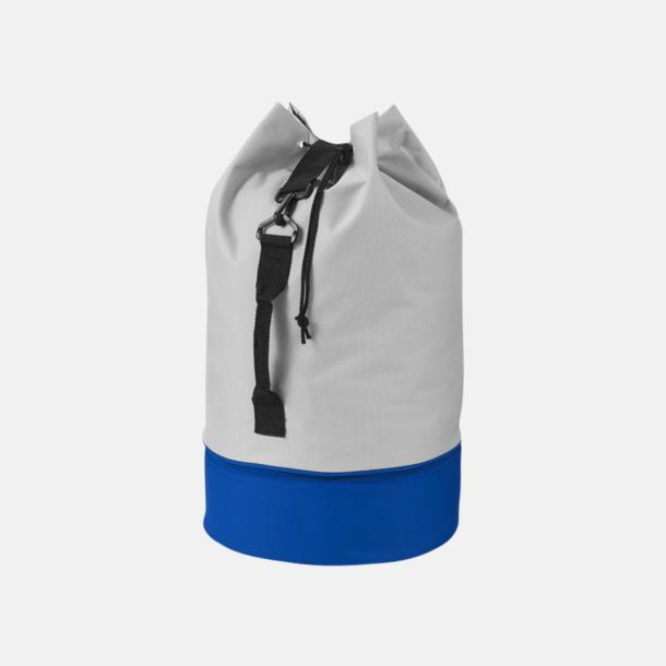 Grå/Royal 2-färgade sjömansväskor med reklamtryck
