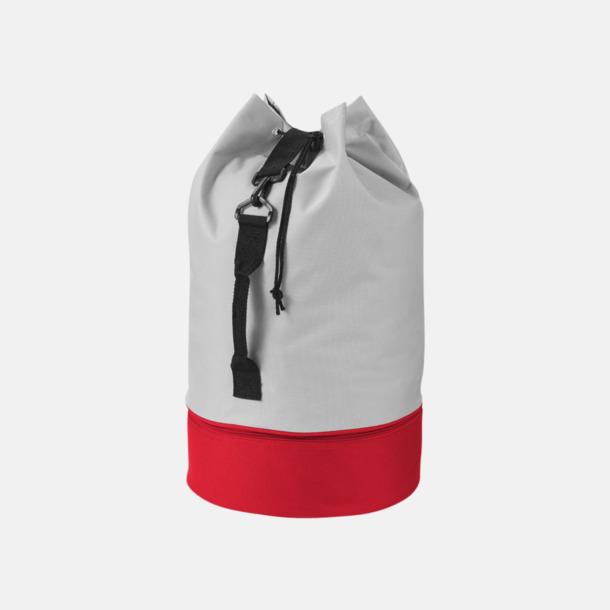 Grå/Röd 2-färgade sjömansväskor med reklamtryck