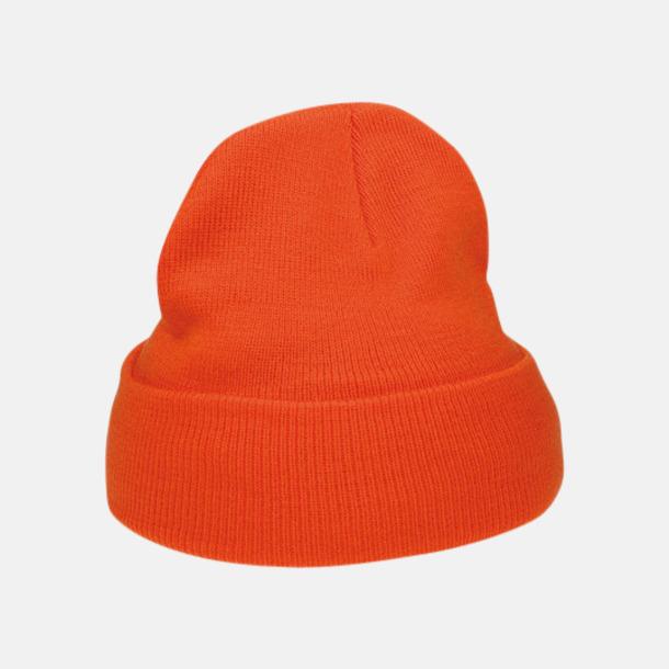 Orange Billiga, stickade mössor med reklamlogo