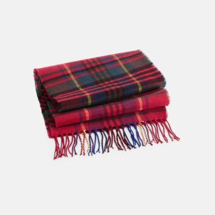 Skotskrutiga halsdukar med reklamlogo