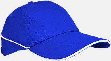 Royal Blue/Vit Keps med eller utan vit rand - med reklamlogo