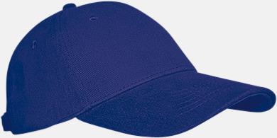 Marinblå Keps med eller utan vit rand - med reklamlogo