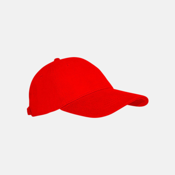 Röd Keps med eller utan vit rand - med reklamlogo