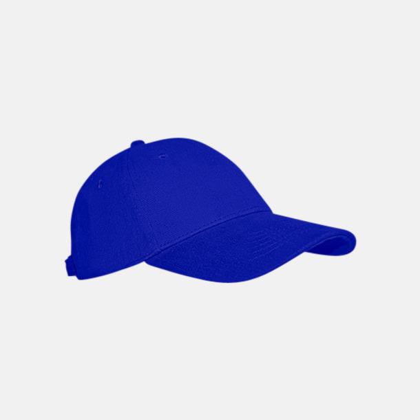 Royal Blue Keps med eller utan vit rand - med reklamlogo