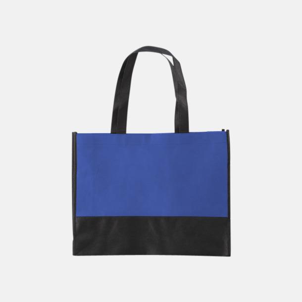 Cobalt Blue/Svart Kassar med svart kontrastfärg med reklamtryck