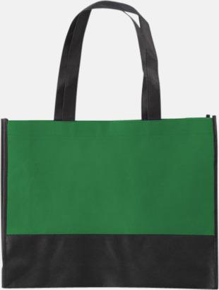 Grön / Svart Kassar med svart kontrastfärg med reklamtryck
