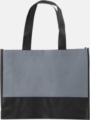 Grå / Svart Kassar med svart kontrastfärg med reklamtryck
