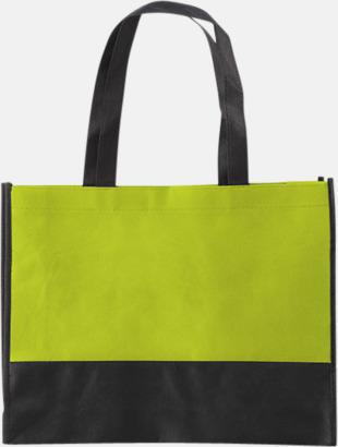 Ljusgrön/Svart Kassar med svart kontrastfärg med reklamtryck
