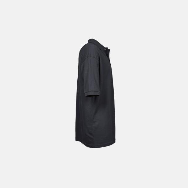 Herrpikéer med ficka med reklamtryck