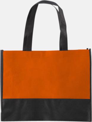 Orange / Svart Kassar med svart kontrastfärg med reklamtryck