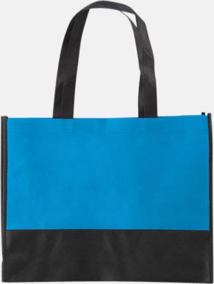 Pale Blue/Svart Kassar med svart kontrastfärg med reklamtryck