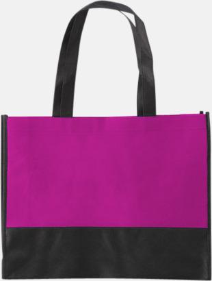 Rosa/Svart Kassar med svart kontrastfärg med reklamtryck