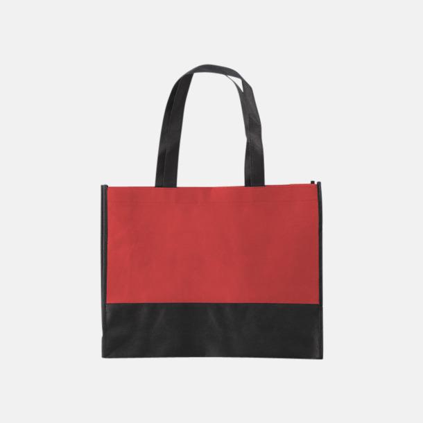 Röd / Svart Kassar med svart kontrastfärg med reklamtryck