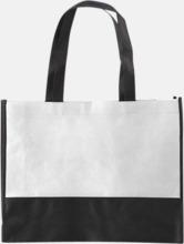 Kassar med svart kontrastfärg med reklamtryck