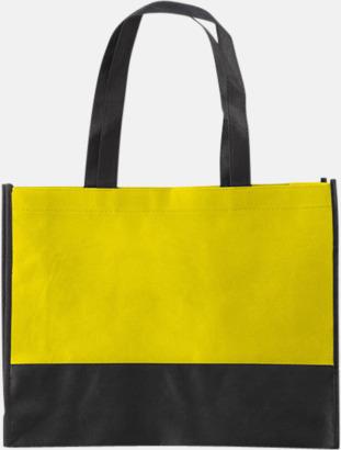 Gul / Svart Kassar med svart kontrastfärg med reklamtryck