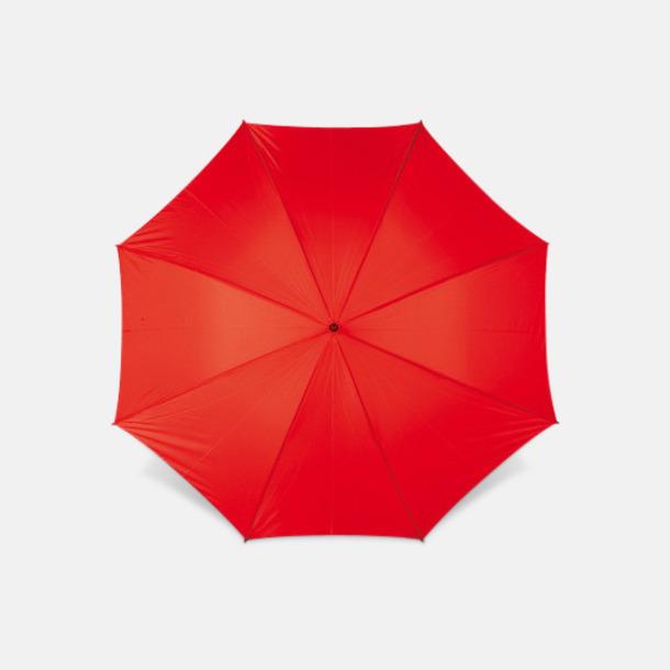 Röd Sportparaplyer med bärrem - med reklamtryck