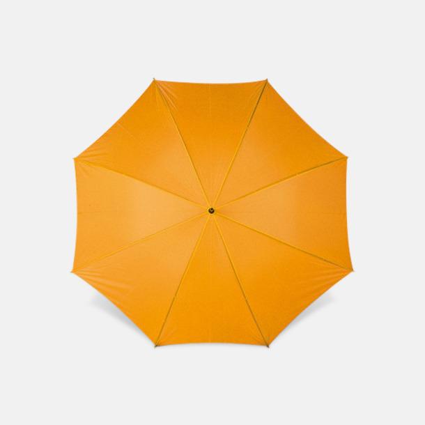 Orange Sportparaplyer med bärrem - med reklamtryck
