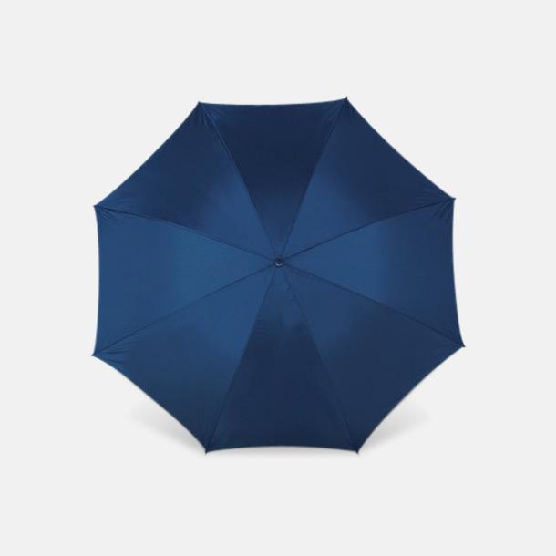 Marinblå Sportparaplyer med bärrem - med reklamtryck