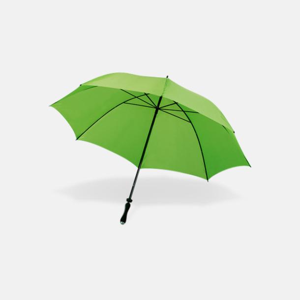 Limegrön Sportparaplyer med bärrem - med reklamtryck