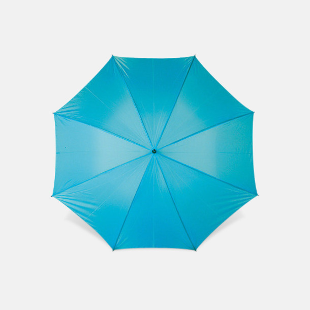 Ljusblå Sportparaplyer med bärrem - med reklamtryck