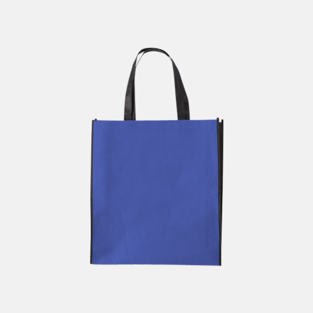 Cobalt Blue/Svart Tygpåsar med mörk kontrastfärg med reklamtryck
