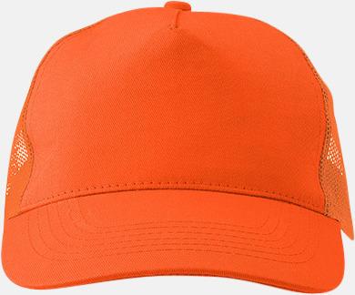 Orange Billiga trucker kepsar med reklamlogo