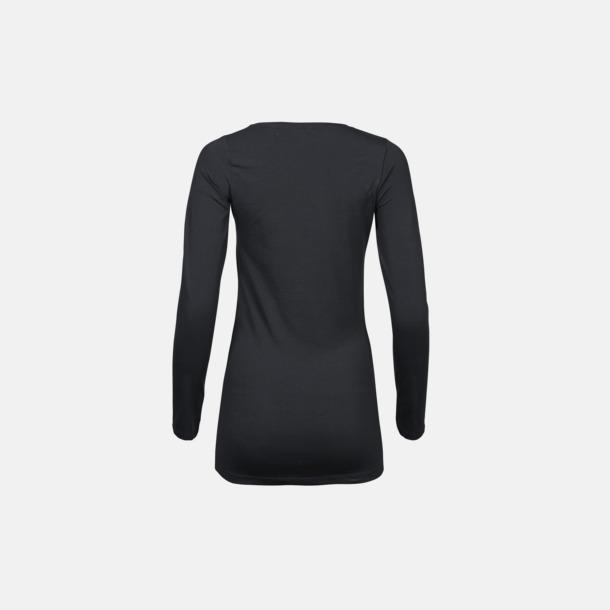 Långärmade t-shirts med stretch - med rekamtryck