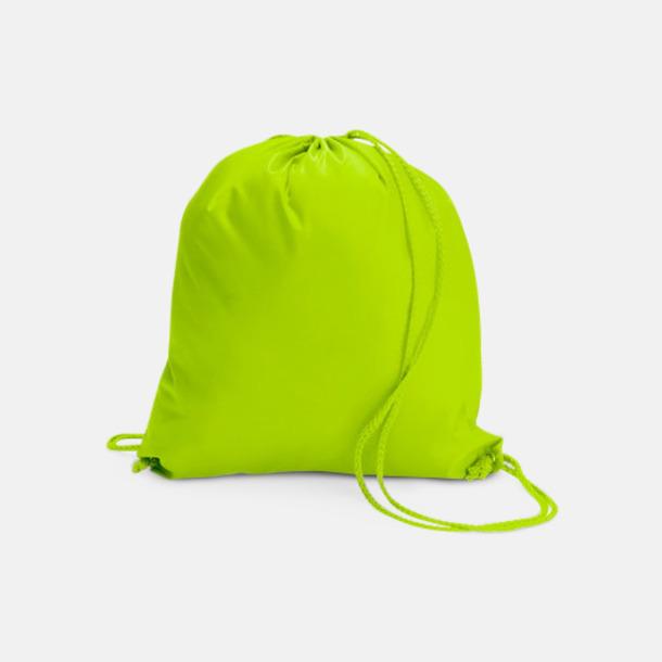 Limegrön Gympapåsar med eget reklamtryck