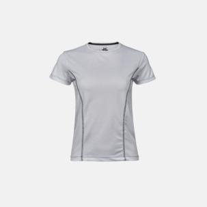 Funktions t-shirts med kontrastsömmar - med reklamtryck