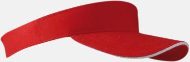 Röd / Vit Solskärmar i många färger - med reklamtryck