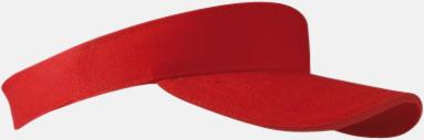 Röd Solskärmar i många färger - med reklamtryck
