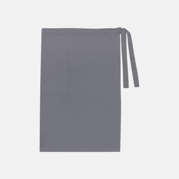 Anthracite Grey (herr) Midjeförkläden i canvas med reklamtryck