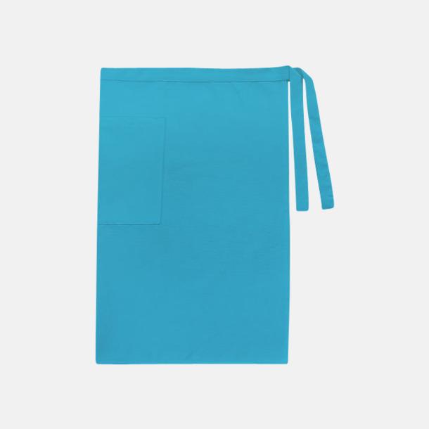 Aqua (herr) Midjeförkläden i canvas med reklamtryck